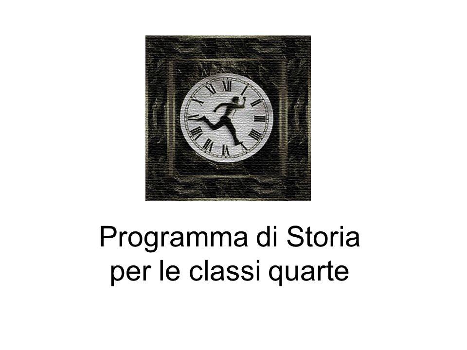 Programma di Storia per le classi quarte