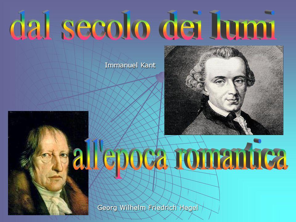 Immanuel Kant Georg Wilhelm Friedrich Hegel