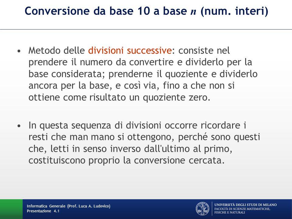 Conversione da base 10 a base n (num.