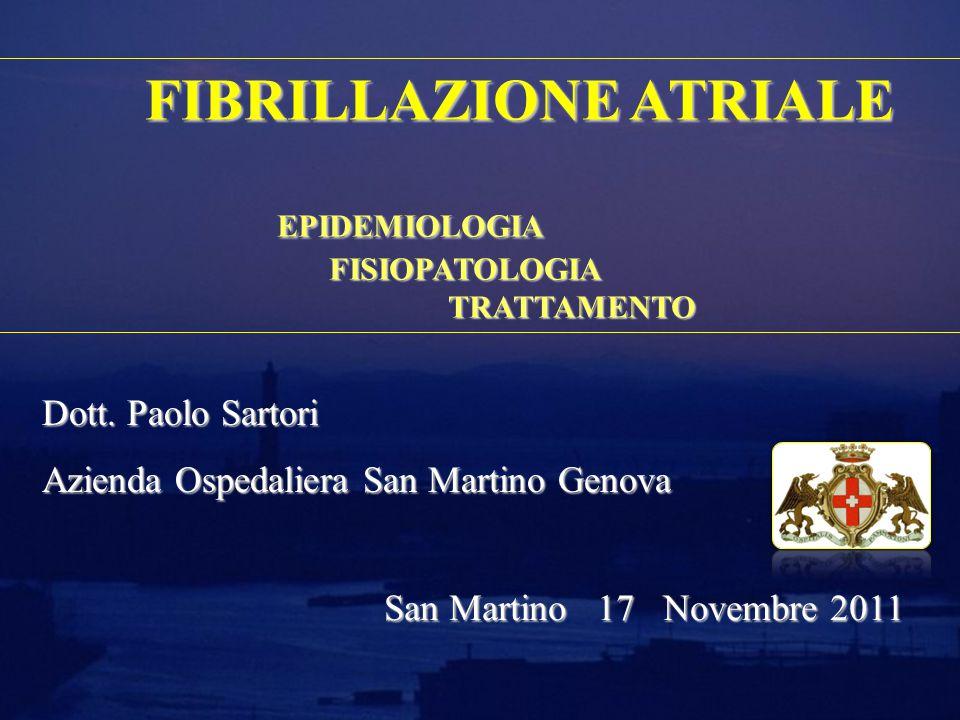 La Gestione del paziente con FA ESC Guidelines for the management of atrial fibrillation 2010