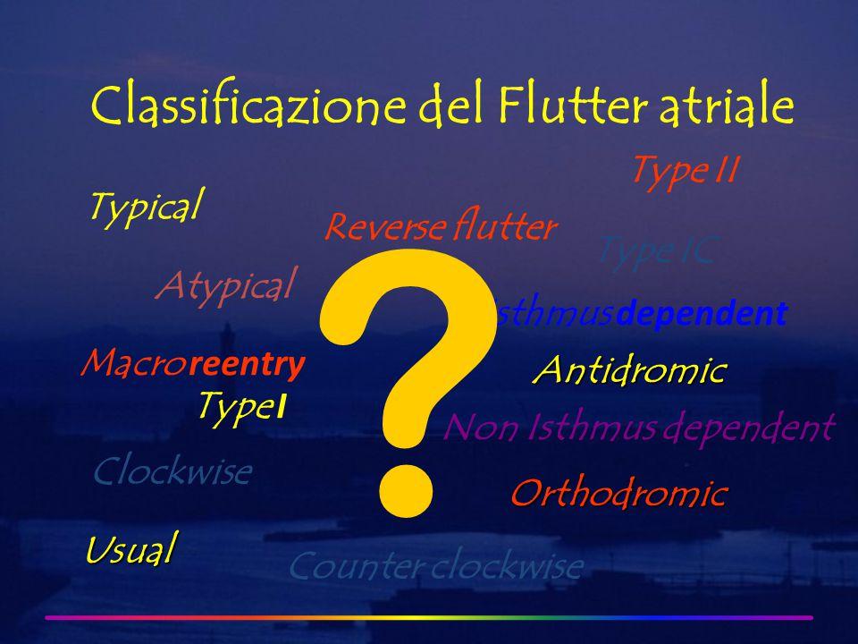 Flutter atriale comune Flutter atriale non comune DD1-2 DD3-4 DD5-6 DD7-8 DD9-10 DD11-12 DD13-14 DD15-16 DD17-18 DD19-20 DD1-2 DD3-4 DD5-6 DD7-8 DD9-10 DD11-12 DD13-14 DD15-16 DD17-18 DD19-20 Segnali endocavitari