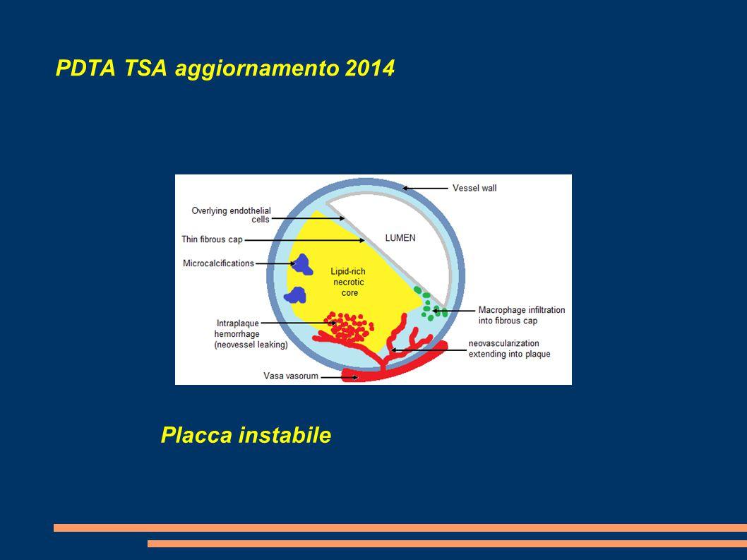 PDTA TSA aggiornamento 2014 Placca instabile