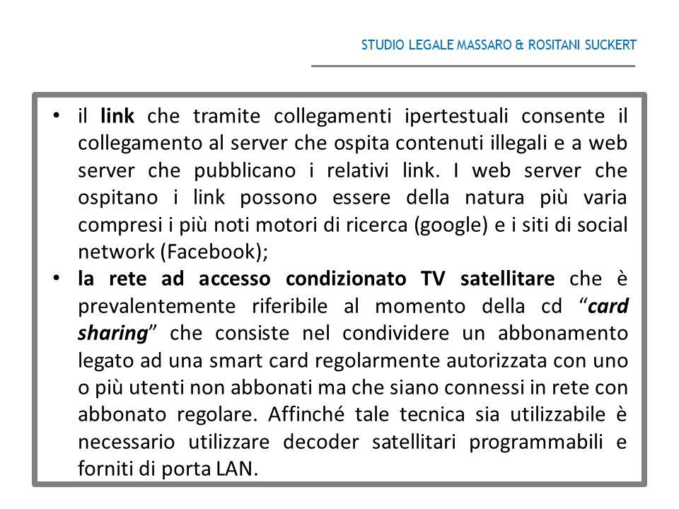 STUDIO LEGALE MASSARO & ROSITANI SUCKERT ______________________________________ il link che tramite collegamenti ipertestuali consente il collegamento