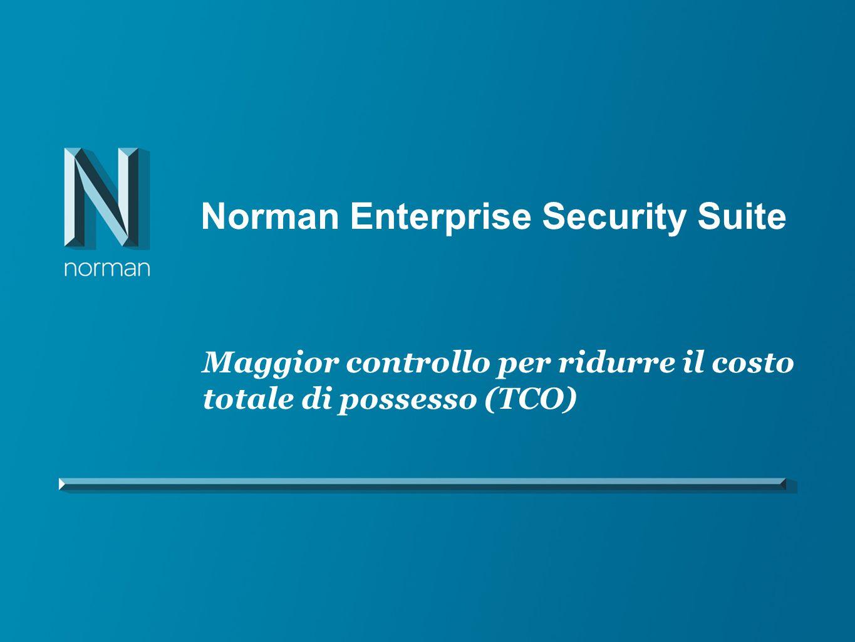 Norman Enterprise Security Suite Maggior controllo per ridurre il costo totale di possesso (TCO)