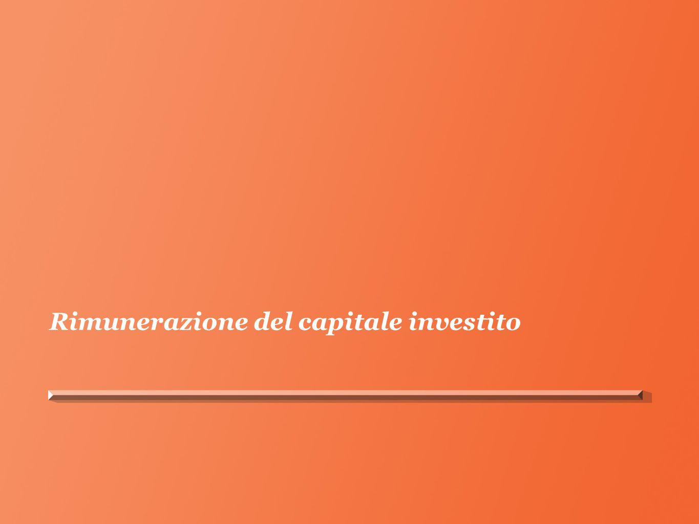Rimunerazione del capitale investito