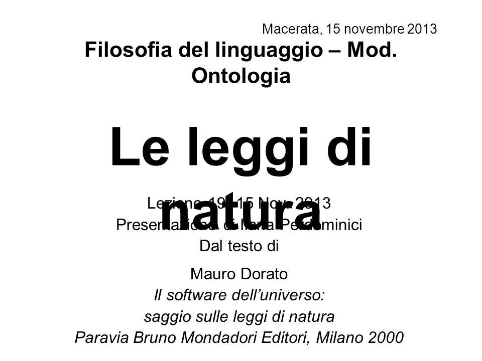 Macerata, 15 novembre 2013 Lezione 19 -15 Nov.