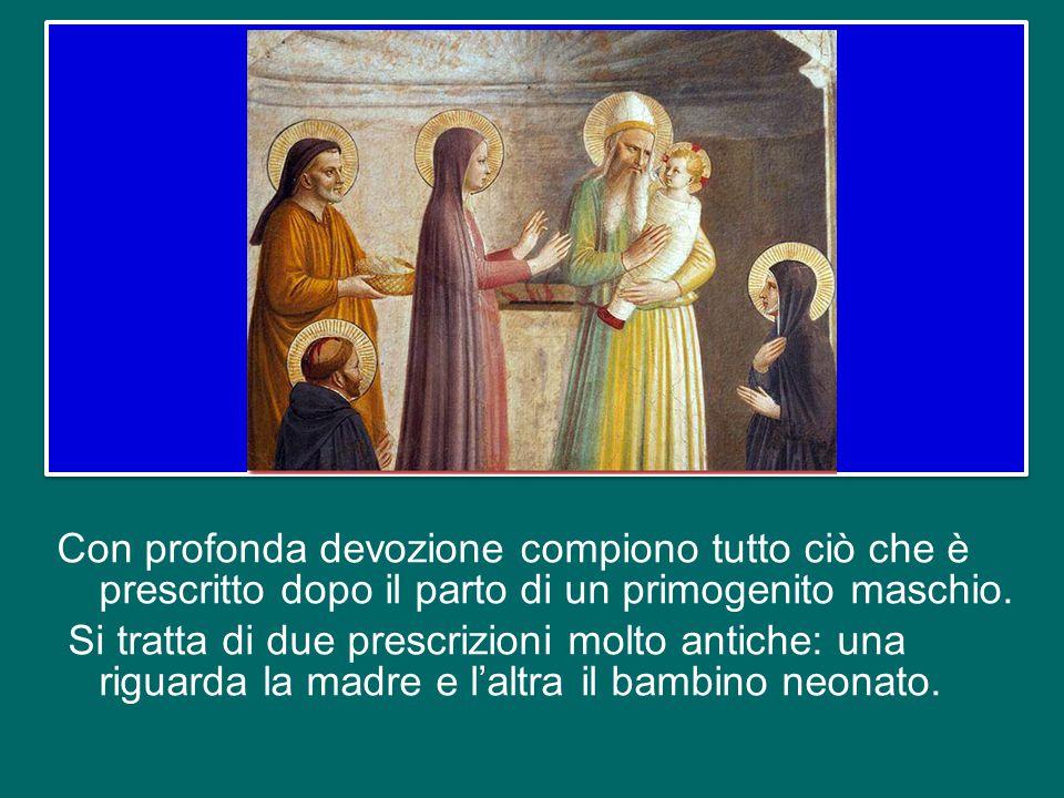 nel suo racconto dell'infanzia di Gesù, san Luca sottolinea come Maria e Giuseppe fossero fedeli alla Legge del Signore.