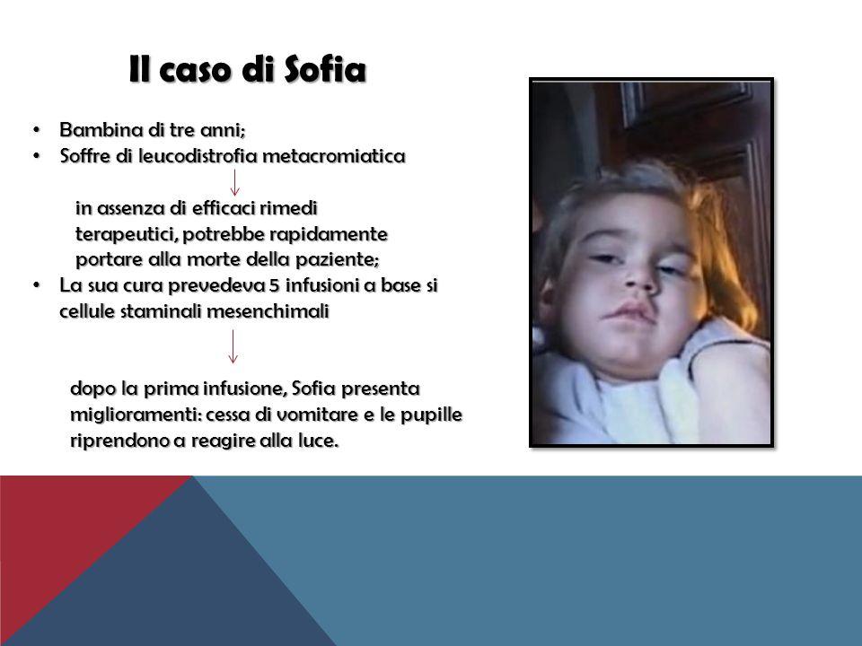 Il caso di Sofia Il caso di Sofia Bambina di tre anni; Bambina di tre anni; Soffre di leucodistrofia metacromiatica Soffre di leucodistrofia metacromi