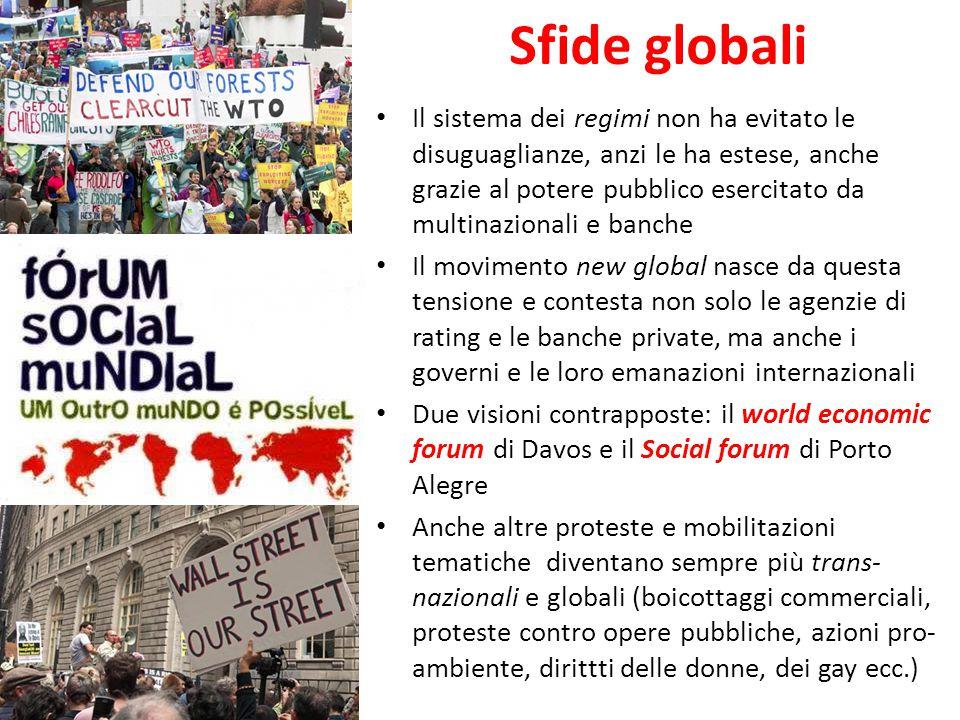 Sfide globali Il sistema dei regimi non ha evitato le disuguaglianze, anzi le ha estese, anche grazie al potere pubblico esercitato da multinazionali