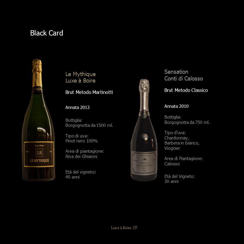 Sensation Conti di Calosso Brut Metodo Classico Annata 2010 Bottiglia: Borgognotta da 750 ml. Tipo d'uva: Chardonnay, Barbera in bianco, Viognier Area