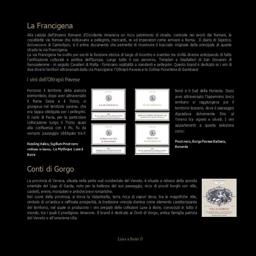 Carta Oro Castello di Gambassi La Francigena Chianti Riserva DOCG Annata 2011 Bottiglia: Bordolese da 750 ml.