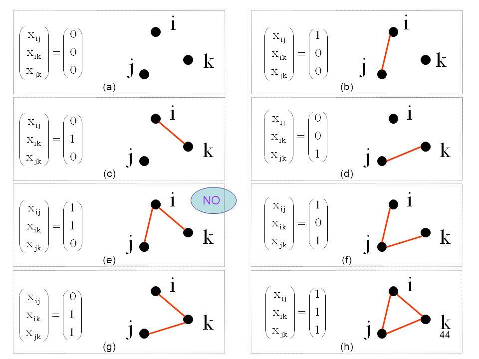 44 (a) NO (b) (c)(e)(d)(f)(h)(g)