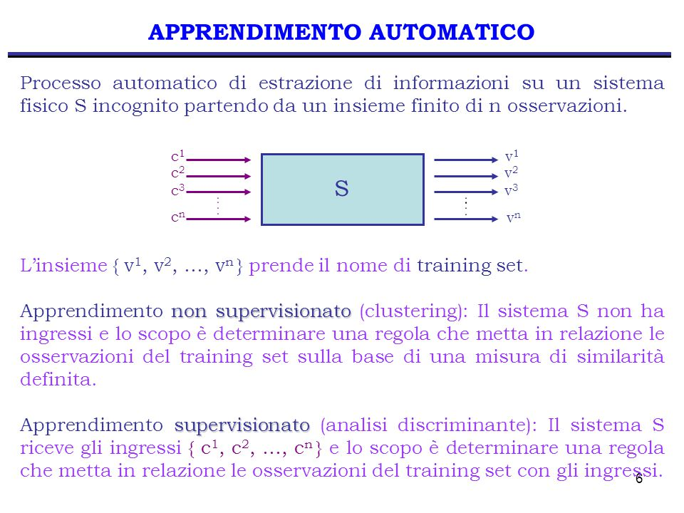 97 ALGORITMO K-MEANS Passo 4 Se non è verificato il criterio di convergenza, torna al Passo 2.