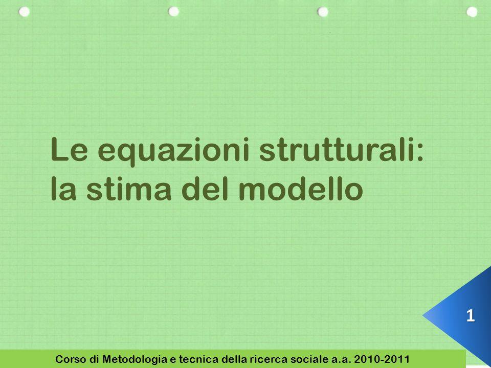1 Corso di Metodologia e tecnica della ricerca sociale a.a.