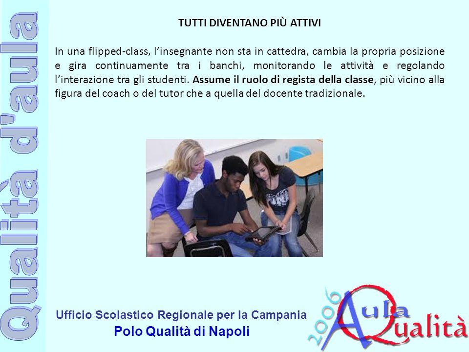 Ufficio Scolastico Regionale per la Campania Polo Qualità di Napoli TUTTI DIVENTANO PIÙ ATTIVI In una flipped-class, l'insegnante non sta in cattedra,