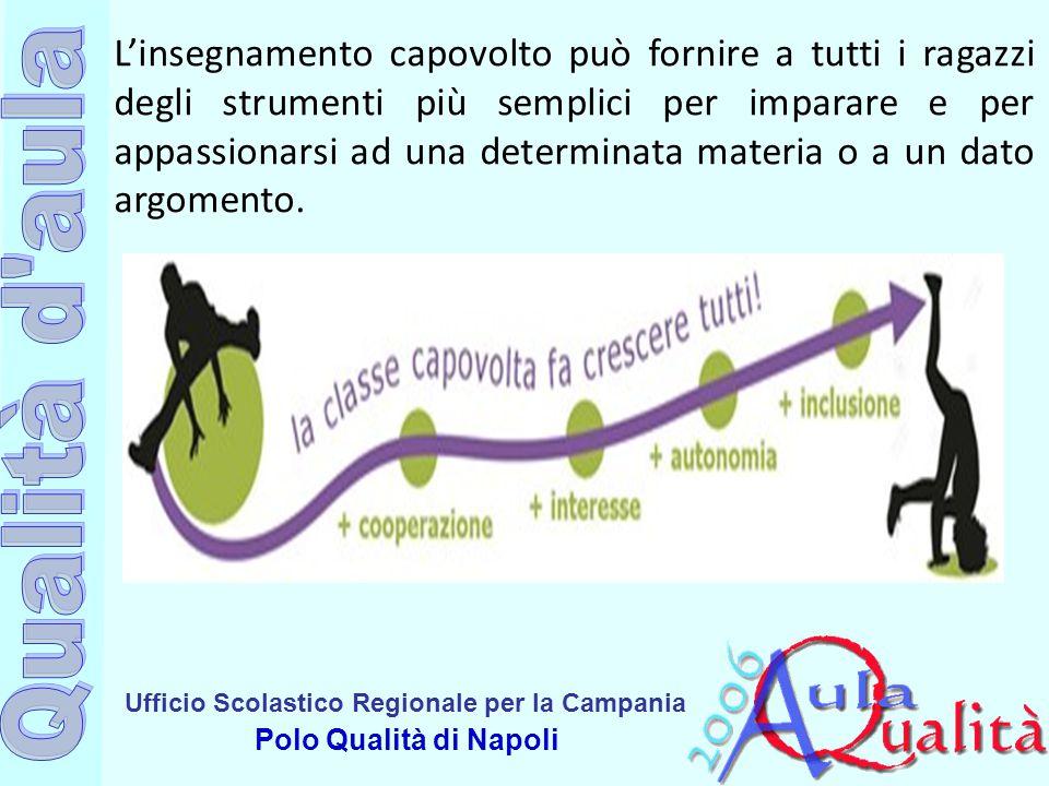 Ufficio Scolastico Regionale per la Campania Polo Qualità di Napoli L'insegnamento capovolto può fornire a tutti i ragazzi degli strumenti più semplic