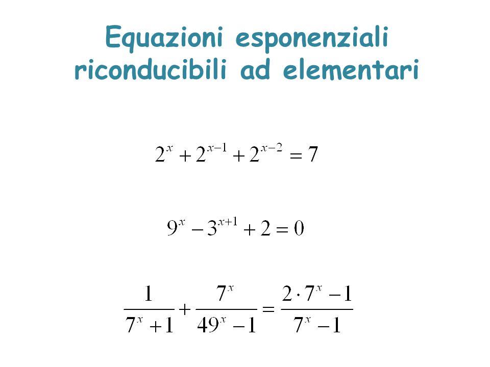 Equazioni esponenziali riconducibili ad elementari