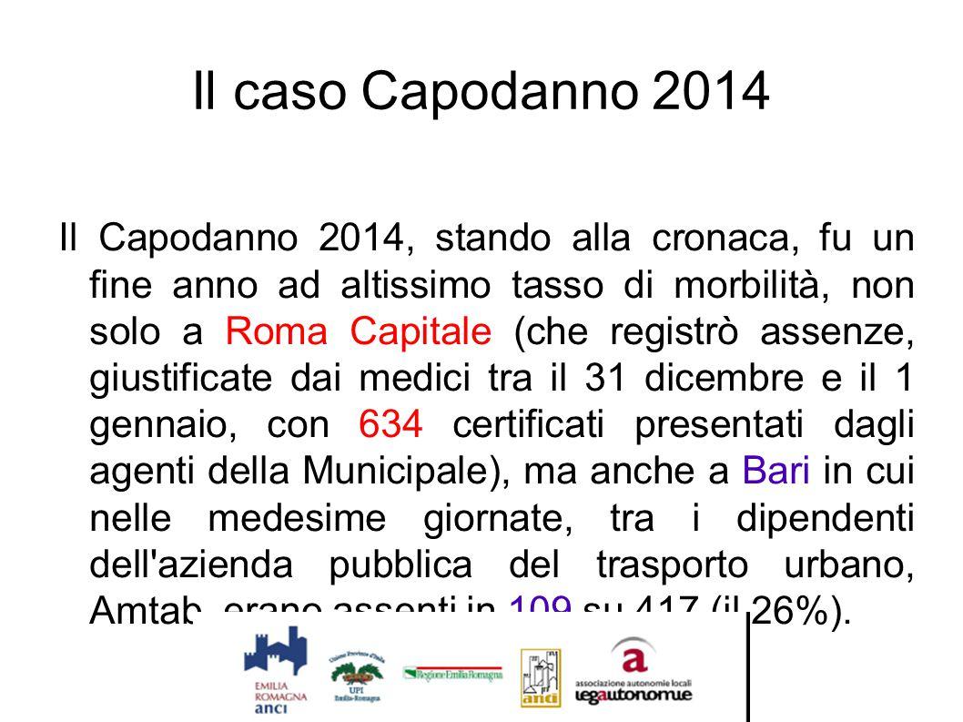 Il caso Capodanno 2014 Il Capodanno 2014, stando alla cronaca, fu un fine anno ad altissimo tasso di morbilità, non solo a Roma Capitale (che registrò