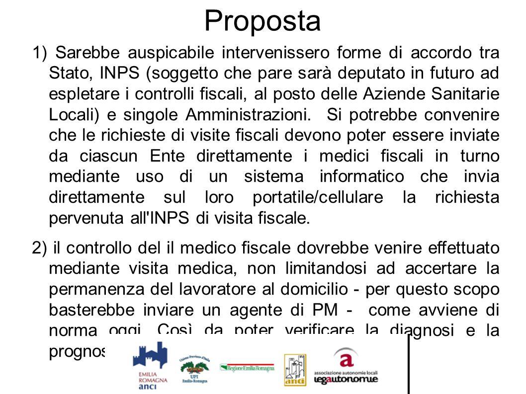 Proposta 1) Sarebbe auspicabile intervenissero forme di accordo tra Stato, INPS (soggetto che pare sarà deputato in futuro ad espletare i controlli fi