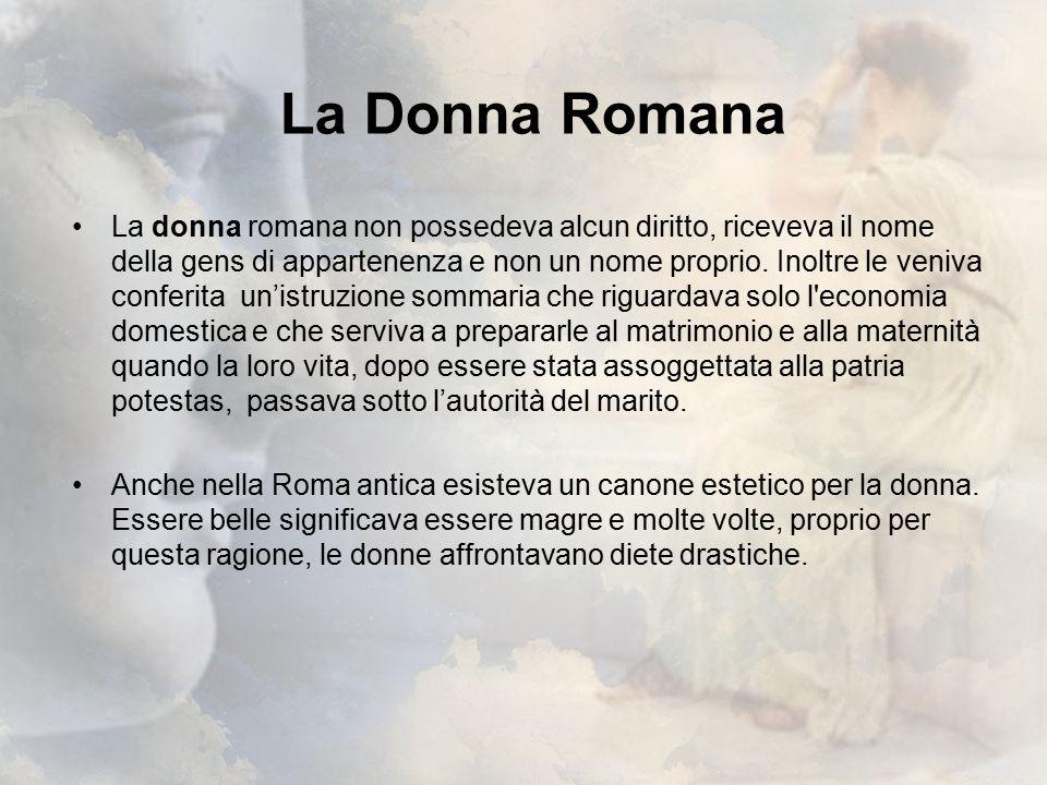 La moda femminile nell'antica Roma Nell'abbigliamento dell'antica Roma venivano distinti due tipi di indumenti: gli indumenta, che si portavano sia il giorno che la notte.