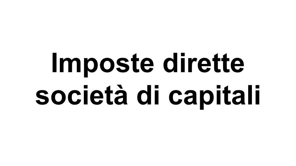 Imposte dirette società di capitali