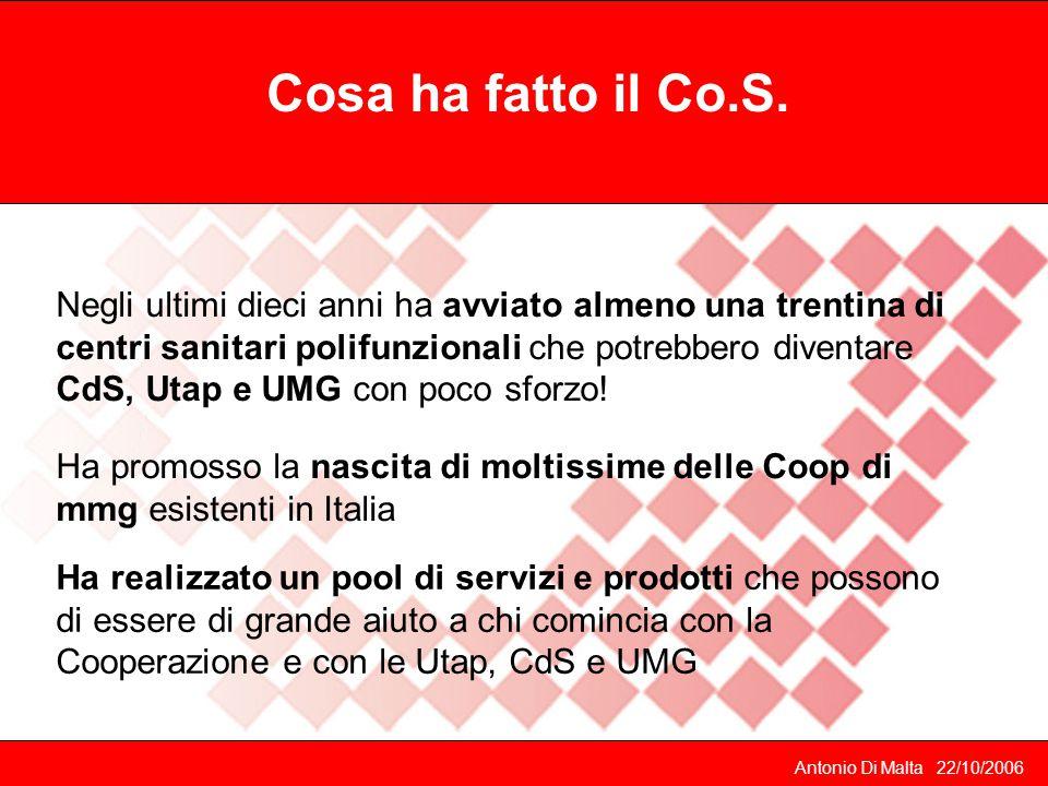 Antonio Di Malta 22/10/2006 Cosa ha fatto il Co.S.