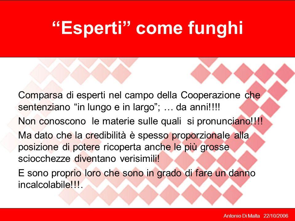 Antonio Di Malta 22/10/2006 Cosa ha fatto il Co.S..