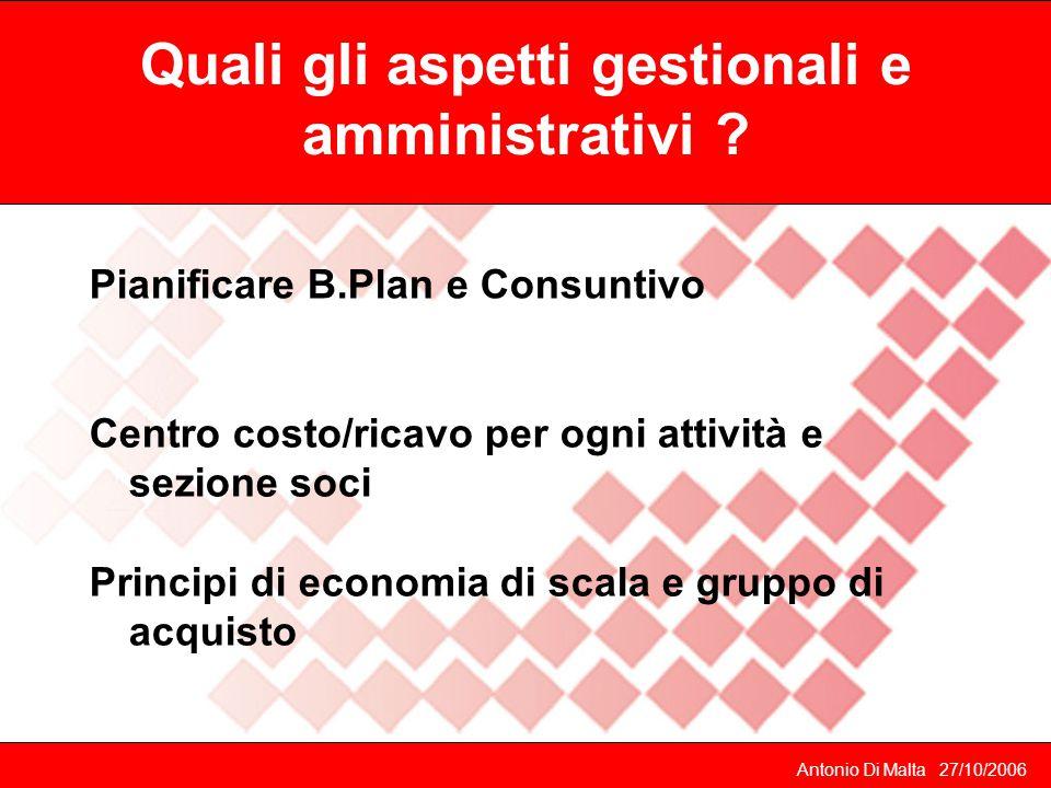 Quali gli aspetti gestionali e amministrativi .