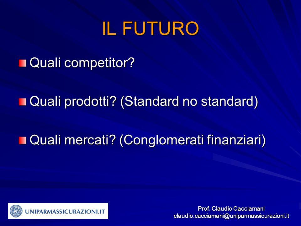 Prof. Claudio Cacciamani claudio.cacciamani@uniparmassicurazioni.it Quali competitor.