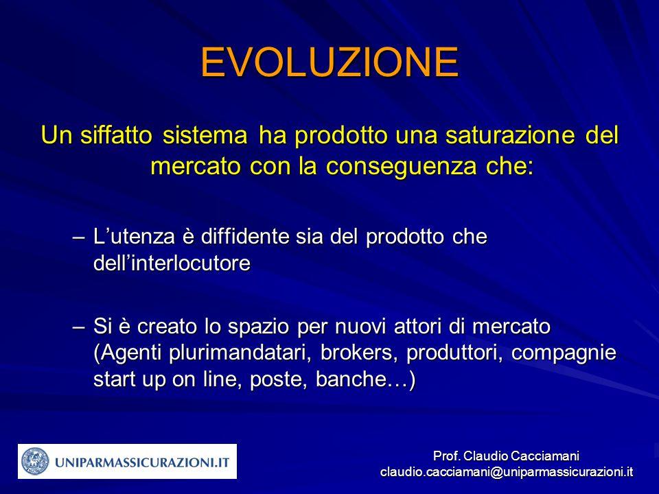 Prof.Claudio Cacciamani claudio.cacciamani@uniparmassicurazioni.it Quali competitor.