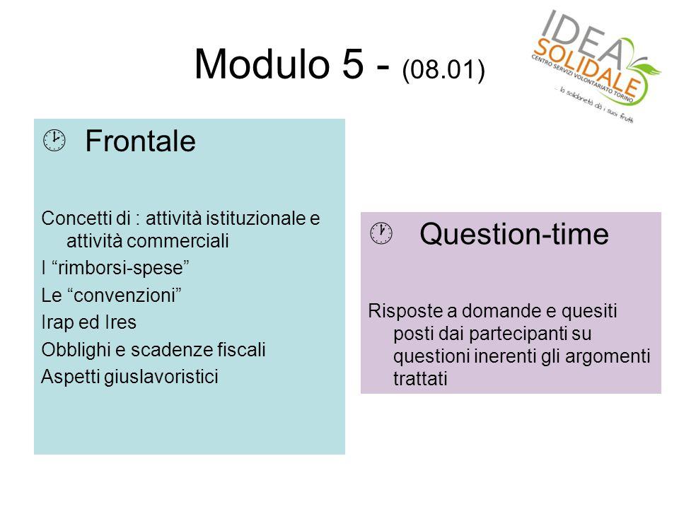 Modulo 6 - (15.01)  Frontale Cosa significa fare fund-raising .