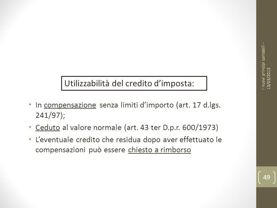 In compensazione senza limiti d'importo (art.17 d.lgs.