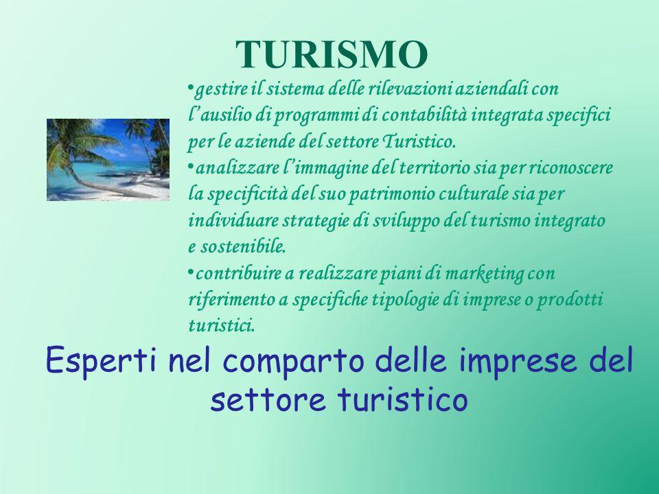 TURISMO gestire il sistema delle rilevazioni aziendali con l'ausilio di programmi di contabilità integrata specifici per le aziende del settore Turistico.