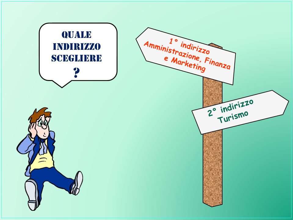 1° indirizzo Amministrazione, Finanza e Marketing 2° indirizzo Turismo Quale INDIRIZZO Scegliere ?
