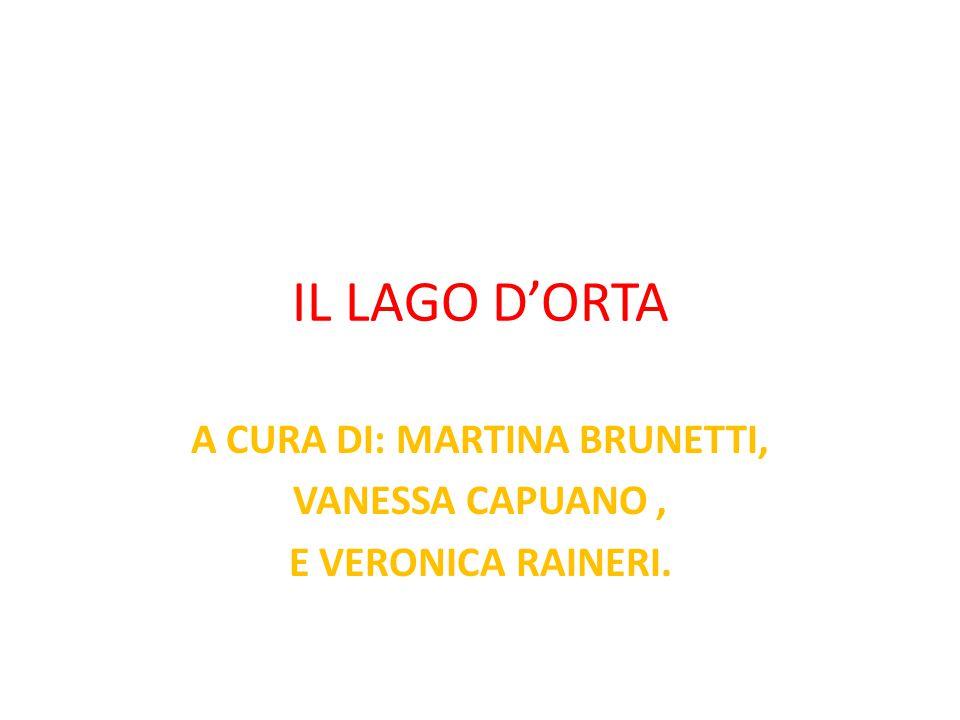 IL LAGO D'ORTA A CURA DI: MARTINA BRUNETTI, VANESSA CAPUANO, E VERONICA RAINERI.