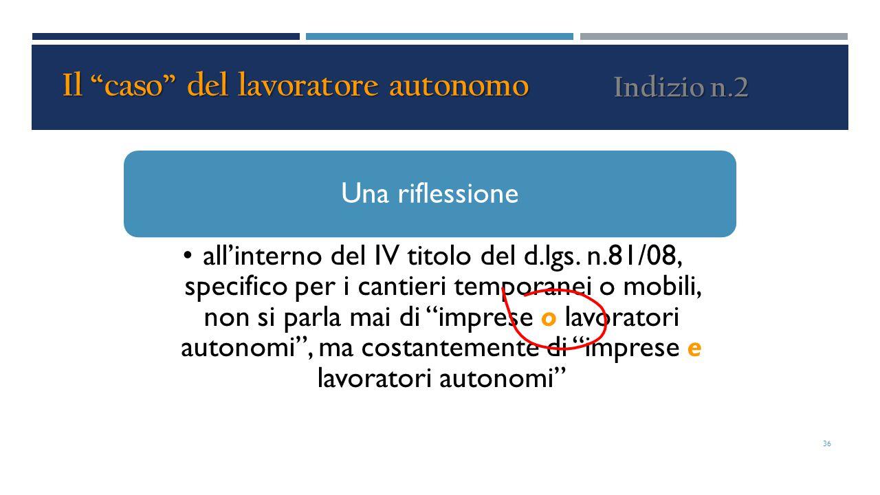 """Una riflessione all'interno del IV titolo del d.lgs. n.81/08, specifico per i cantieri temporanei o mobili, non si parla mai di """"imprese o lavoratori"""