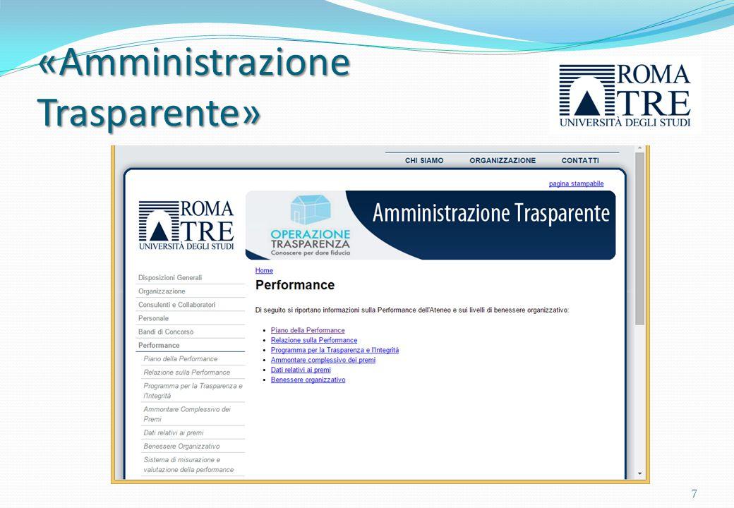 Il ciclo di gestione della performance Riferimenti normativi Decreto Legislativo n.
