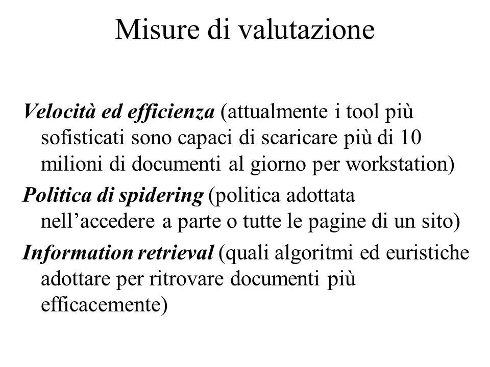 Misure di valutazione Theme Precision: number of correct themes identified by the subject number of all themes identified by the subject number of cor