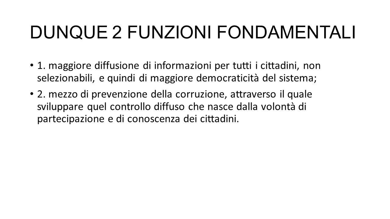 DUNQUE 2 FUNZIONI FONDAMENTALI 1.