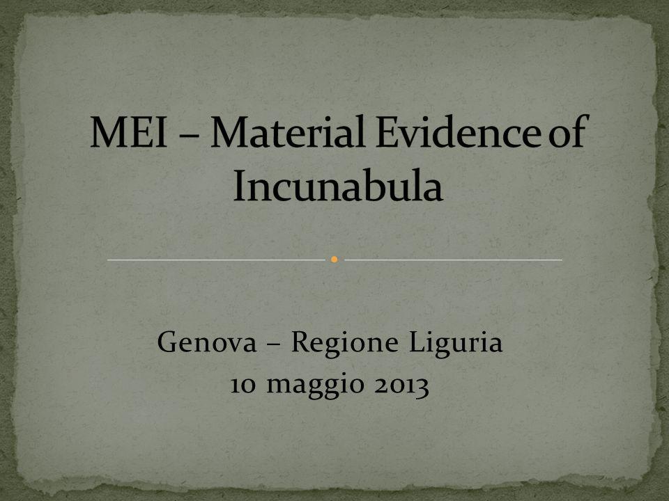 Genova – Regione Liguria 10 maggio 2013