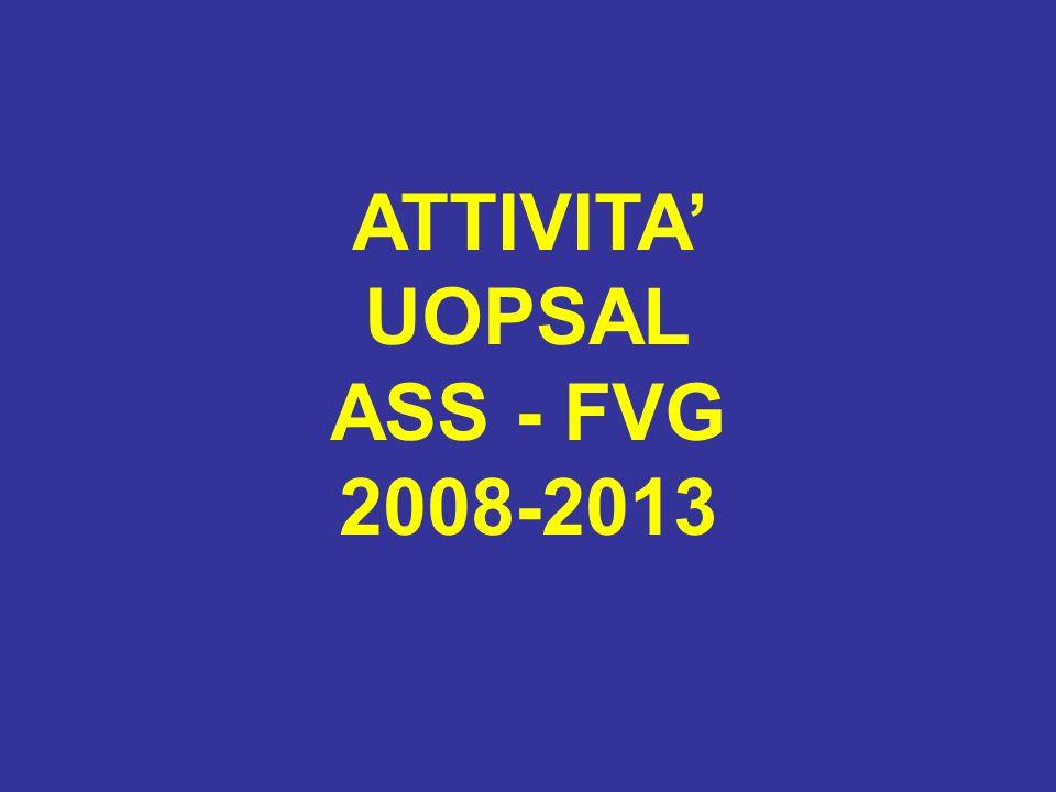 ATTIVITA' UOPSAL ASS - FVG 2008-2013