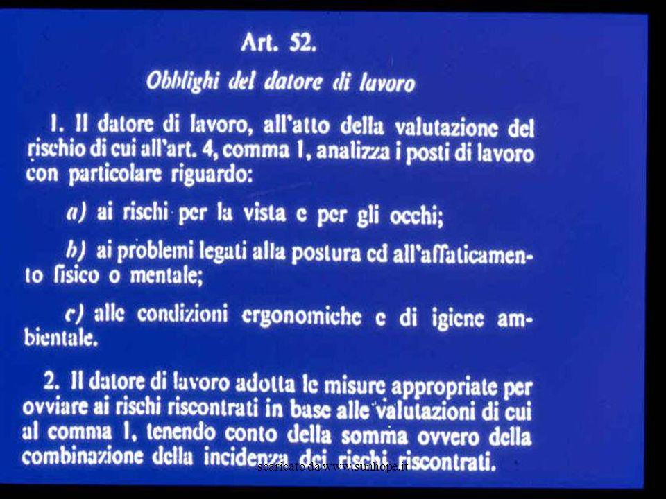 Sorveglianza Sanitaria per addetti VDT I soggetti vengono sottoposti a visita da parte del Medico Competente a fini preventivi, periodici e/o dietro richiesta del lavoratore ex art.
