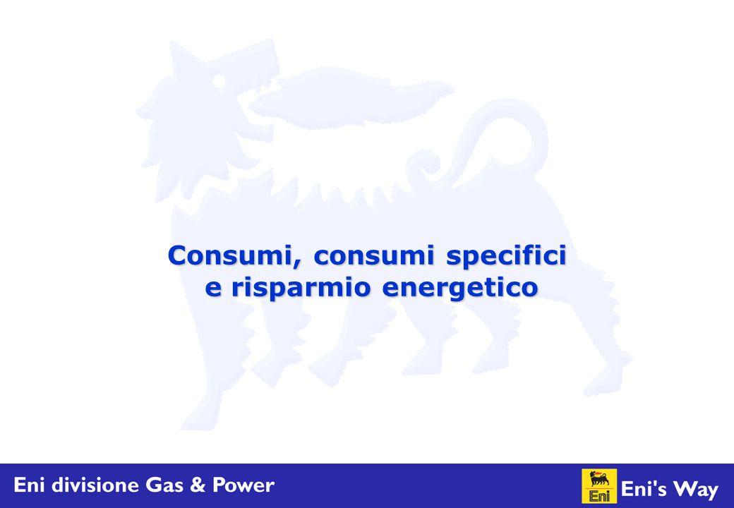 Consumi, consumi specifici e risparmio energetico e risparmio energetico