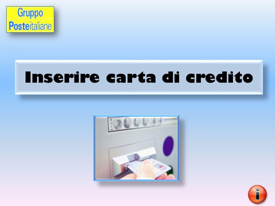 Inserire carta di credito
