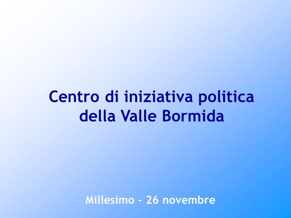 Millesimo - 26 novembre Centro di iniziativa politica della Valle Bormida