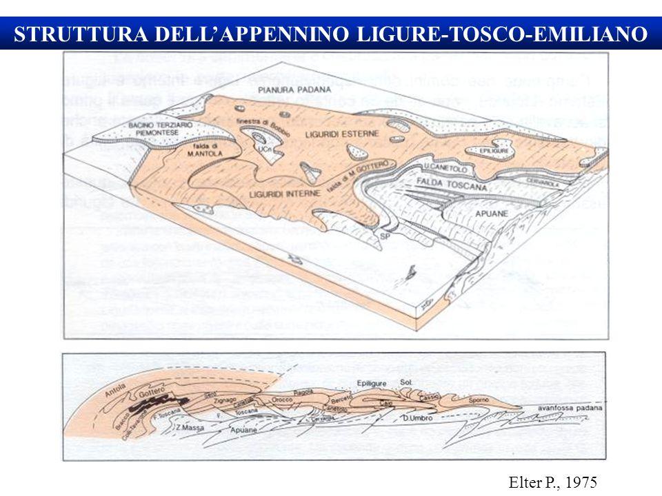 STRUTTURA DELL'APPENNINO LIGURE-TOSCO-EMILIANO Elter P., 1975