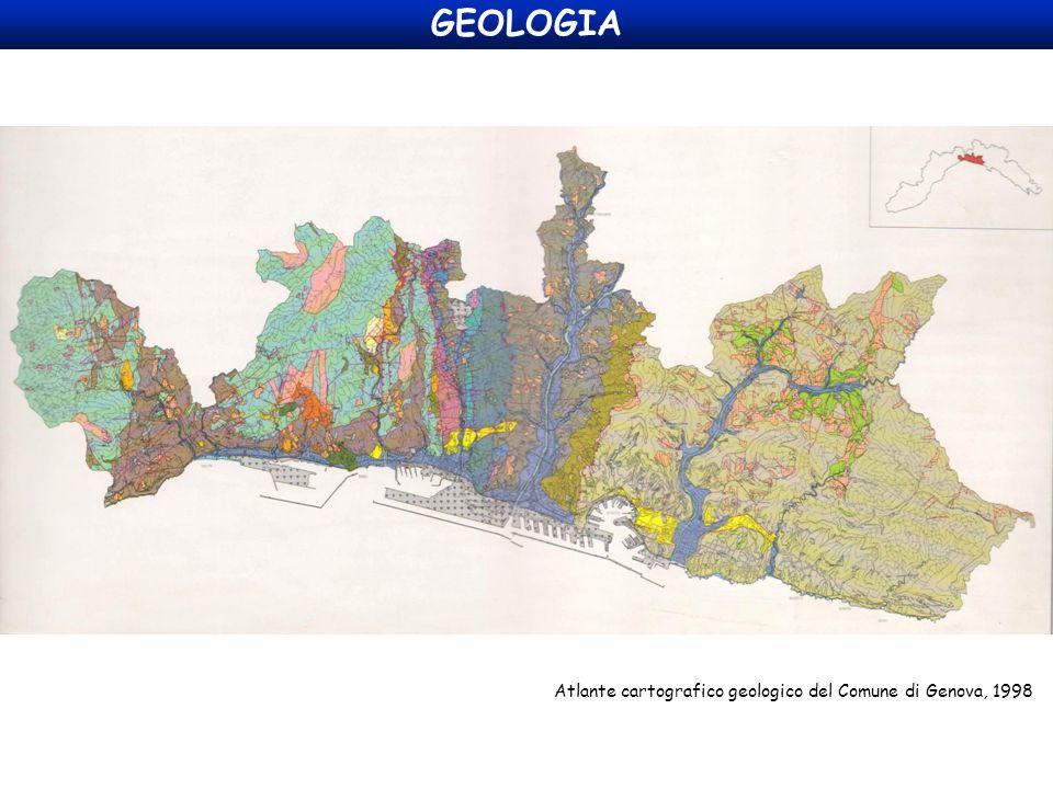 GEOLOGIA Atlante cartografico geologico del Comune di Genova, 1998