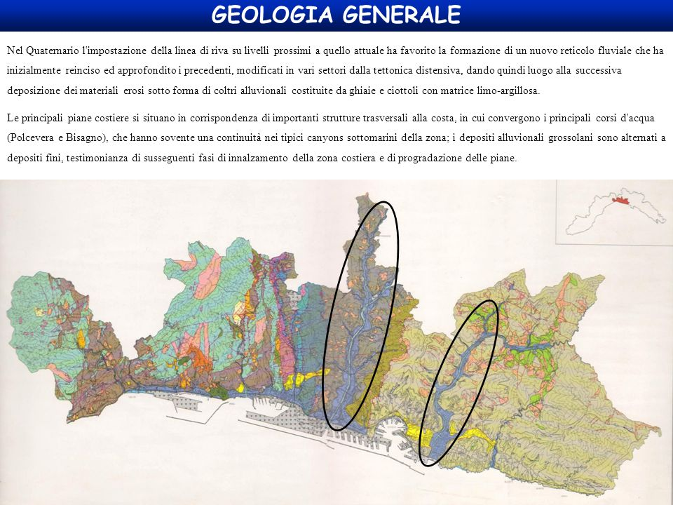 GEOLOGIA GENERALE Nel Quaternario l'impostazione della linea di riva su livelli prossimi a quello attuale ha favorito la formazione di un nuovo retico