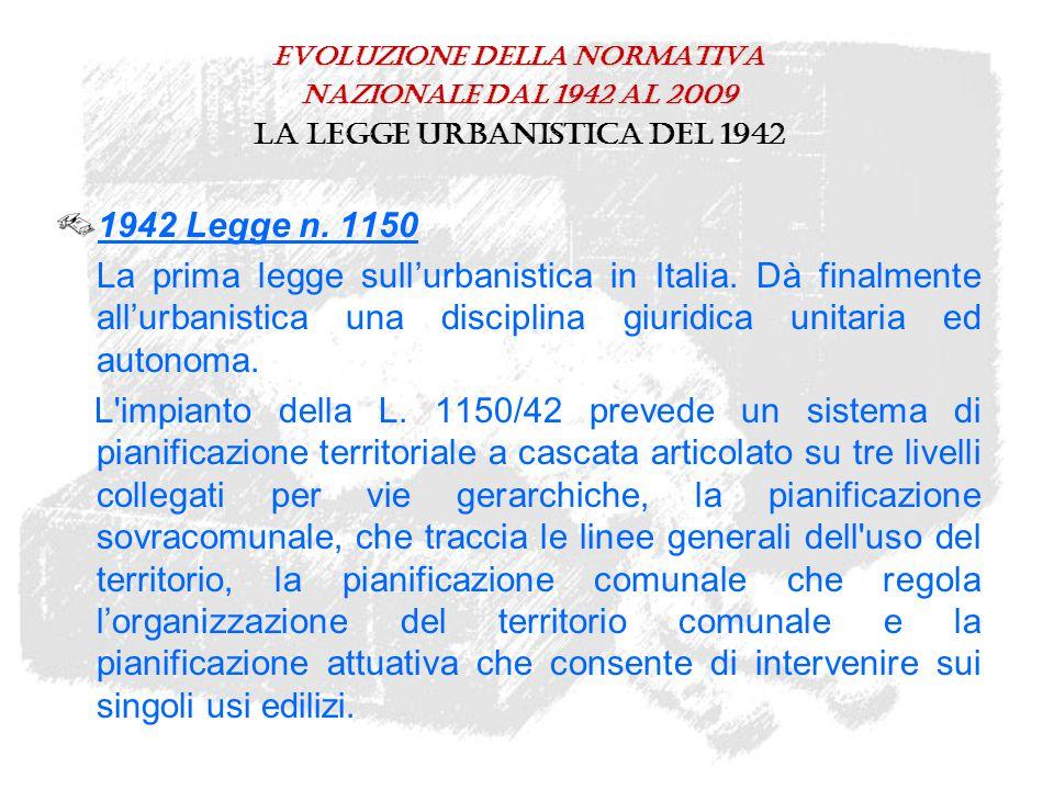 Le leggi d'interesse urbanistico: anni '90/'00 1996 Legge n.