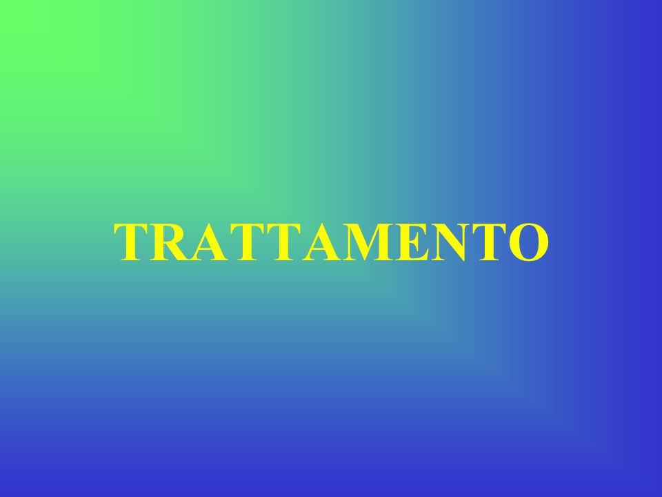 Il trattamento differisce per stadiazione della patologia e quindi per priorità terapeutica.